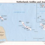 Netherlands Antilles Aruba Political Map