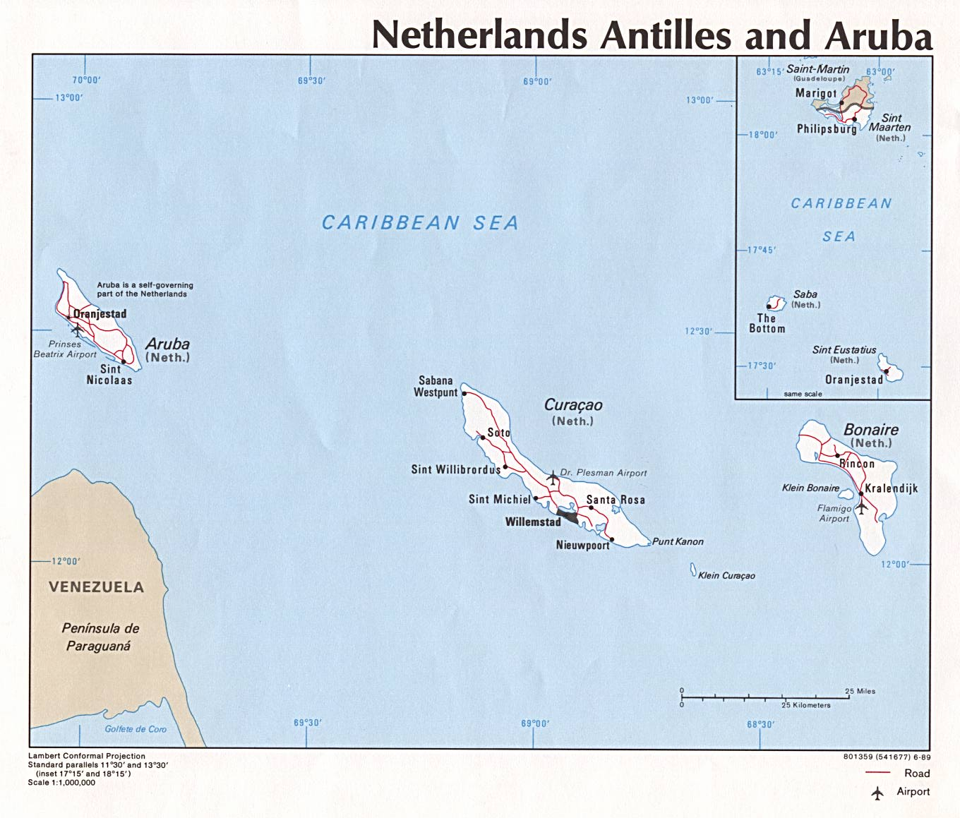 The LittleNoticed Dissolution Of The Netherlands Antilles - Netherlands antilles map