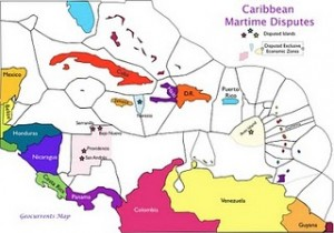 caribbean maritime disputes map