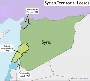 Map of Syria's territorial losses