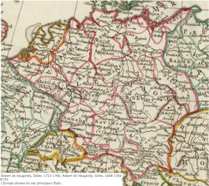 Vaugondy map of Germany, 1751