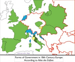 Forms of government in 18th century Europe