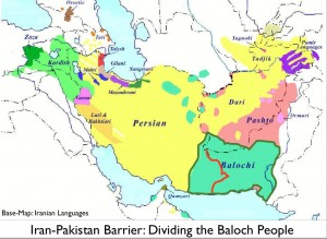 Map of Baloch People and the Iran-Pakistan Border