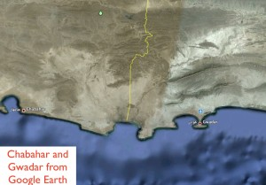 Google Earth Image of Gwadar and Chabahar