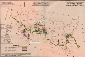 Map of Indian and Bangladeshi enclaves