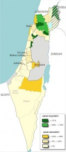 Wikipedia Map of Arab Israelis