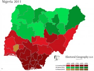 Map of Nigeria's 2011 Presidential Election