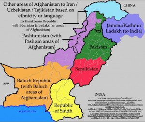 Map of a Partitioned Pakistan
