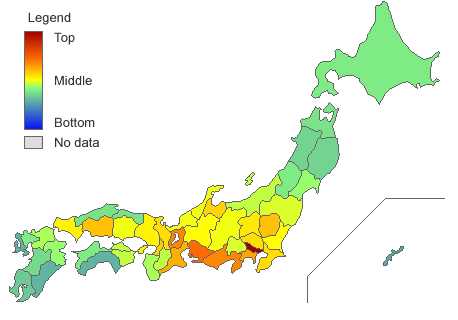 Income of Japan's Prefectures