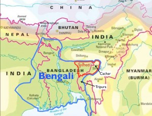 Map of Great Bengal and Greater Sylhet