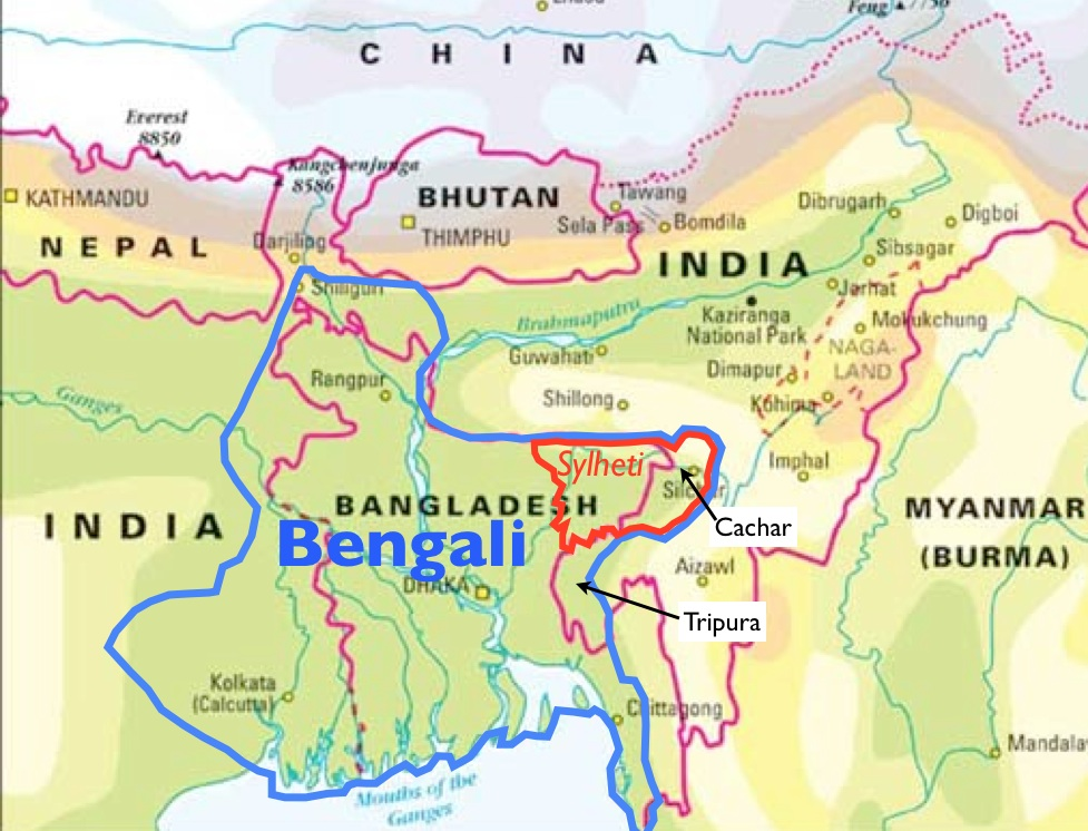 Red tripura and the geopolitics of greater bengal geocurrents map of great bengal and greater sylhet gumiabroncs Images
