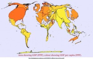 Cartogram of GDP