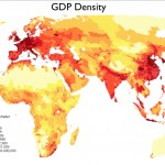 Map of GDP density