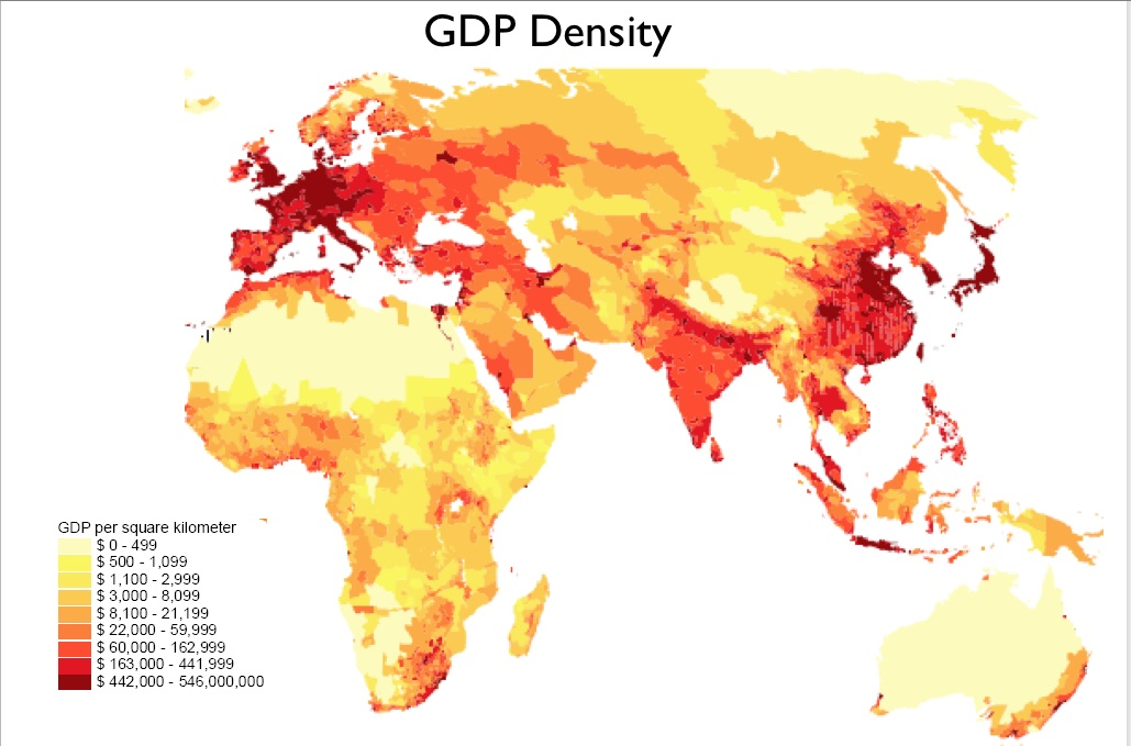 NonStateBased Atlas Preface Part II GeoCurrents - Us gdp concentration map
