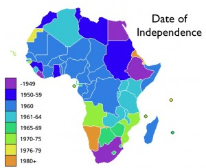 Map of African Independence Dates