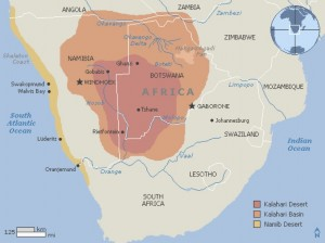 Map of the Kalahari