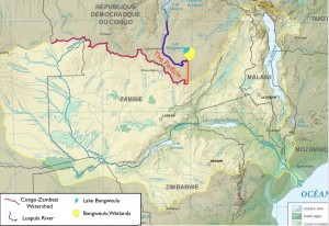 Map of Congo Pedicle, Natural Environment and Boundaries