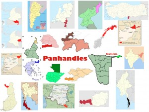 Maps of Panhandles of Sovereign States