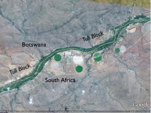 Tuli Block on Google Earth