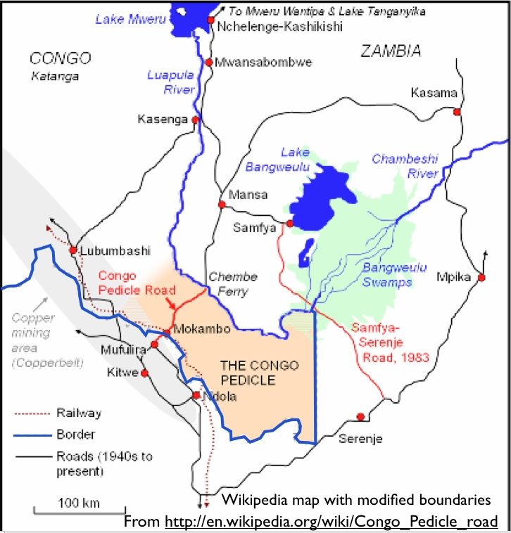 The congo pedicle and its challenges to zambian development wikipedia map of congo pedicle road sciox Choice Image