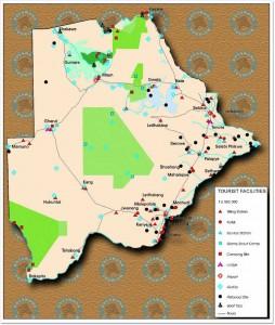 Tourist Map of Botswana