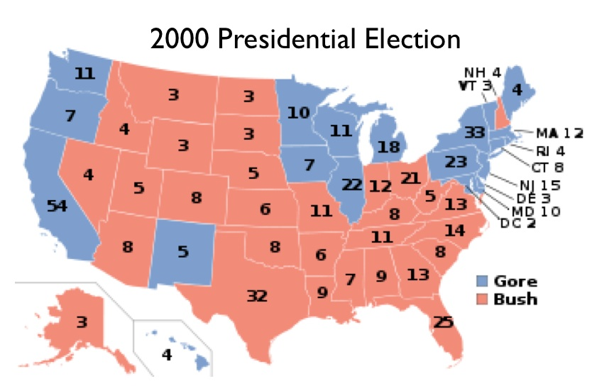 Map Of 2000 Election Usa