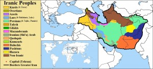 Map of Greater Iran from Iranian Defense