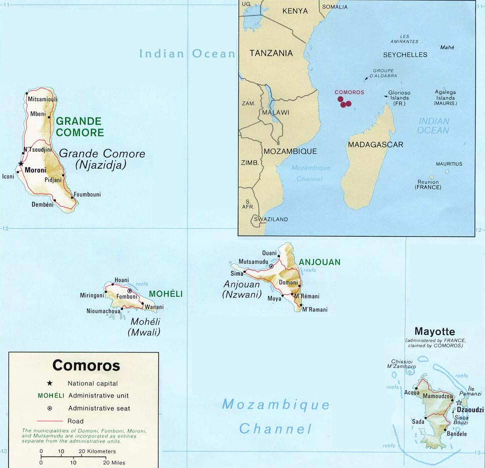 Conflict in the Comoros GeoCurrents