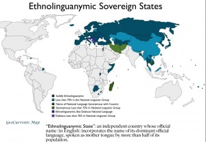 Map of Ethnolinguanymic States