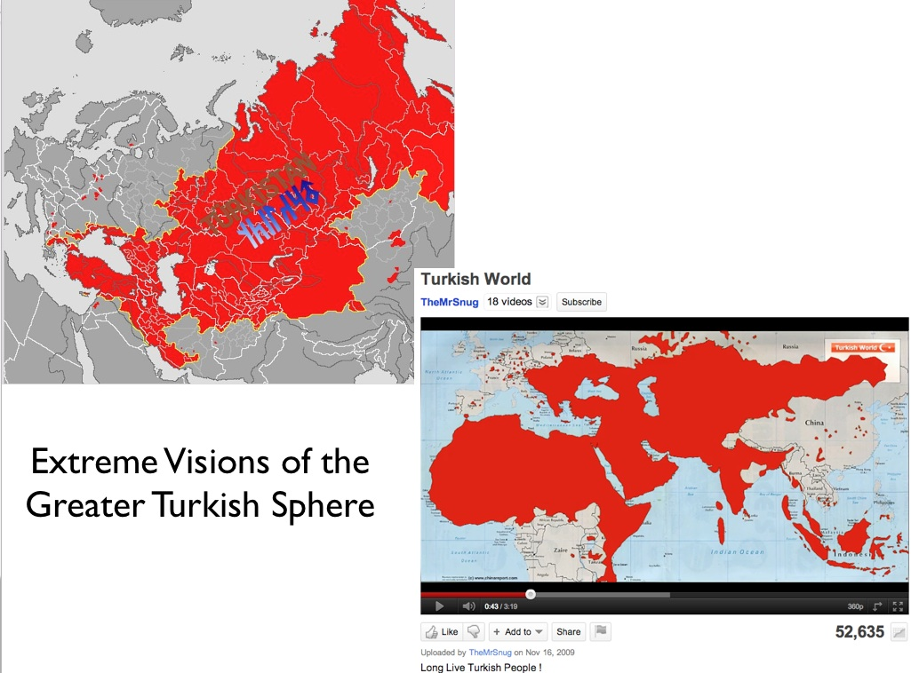 Greater turkey vs greater iran geocurrents maps of extreme interpretations of the greater turkish world sciox Image collections