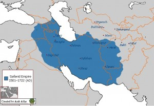 Map of Persian Safavid Empire