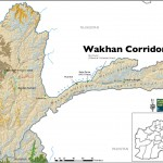 Map of Wakhan Corridor, Afghanistan