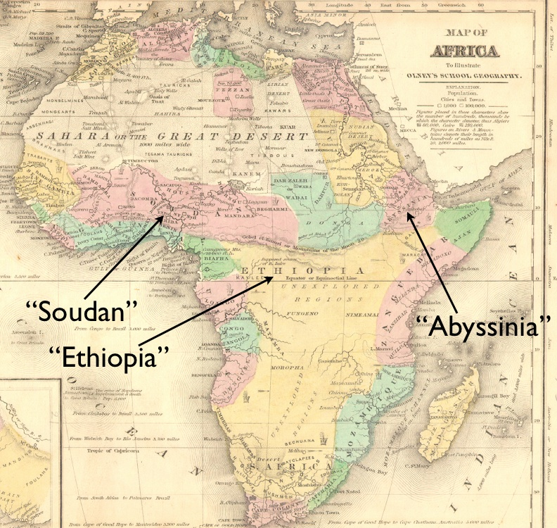 The Migration of Place Names Africa Libya Ethiopia Eritrea