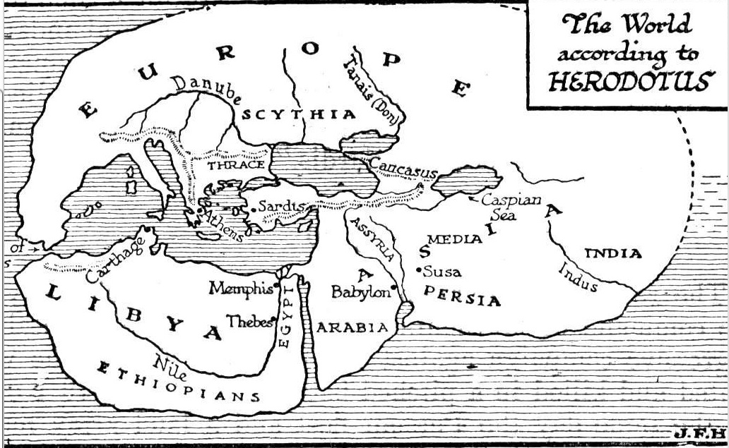 The migration of place names africa libya ethiopia eritrea and reconstruction of the mental world map of herodotus ancient gumiabroncs Images