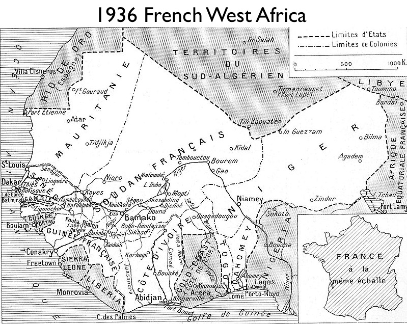 French West Africa 1936 in French West Africa
