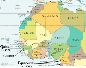 """Map of the Three African """"Guineas"""""""