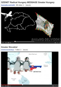 YouTube Maps of Greater Hungary and Greater Slovakia