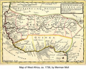 H. Moll's Map of West Africa Showing Guinea