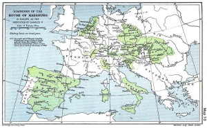 Map of the European Empire of Charles V