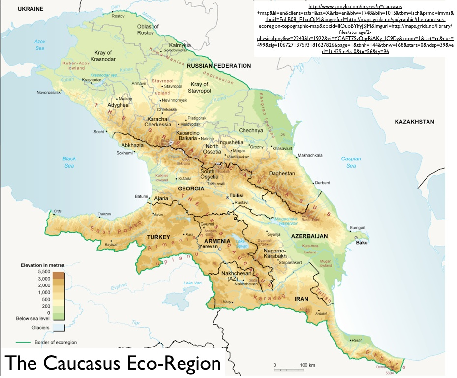 Where Is The Caucasus GeoCurrents - Georgia map asia