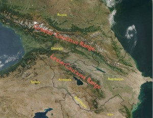 Satellite Image of the Caucasus
