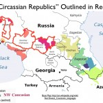 Map of the Circassian Republics in Russia