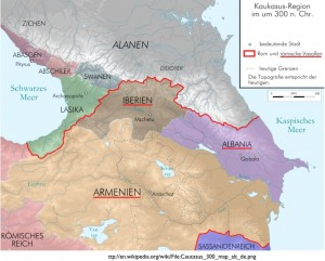 Map of the Kingdoms of the Caucasus Circa 300
