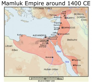 Map of Mamluk Empire Circa 1400