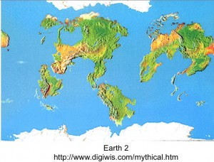 Map of Imaginary Planet, Earth 2