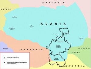 Map of Medieval Alania