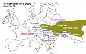 Map of the Sarmatian Tribes in Late Antiquity