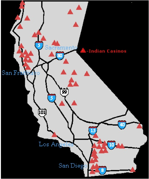 Indian reservations casino california loose slots southern california casinos