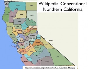 Northern California Map from Wikipedia