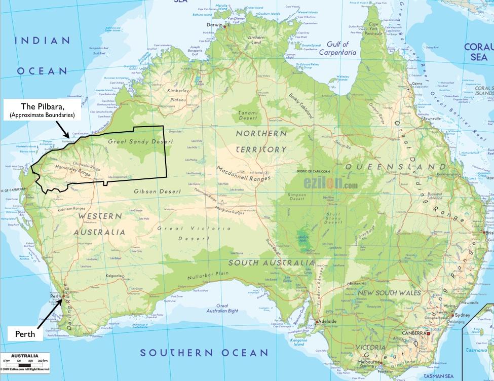 Image result for Pilbara map
